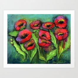 Poppyscape Art Print