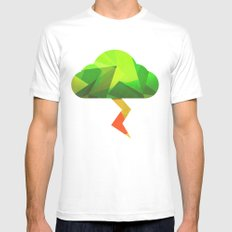 The Weather Tree Mens Fitted Tee MEDIUM White