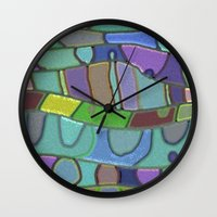 angels Wall Clocks featuring Angels by Betty Mackey