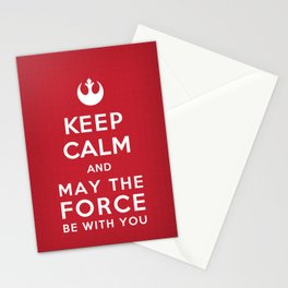 Keep Calm Star Wars - May the Force be with you Stationery Cards