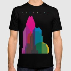 Shapes of Montreal. Accurate to scale. Black MEDIUM Mens Fitted Tee