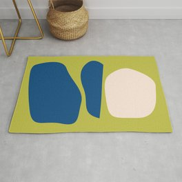 Organic Shapes in Blue and Lime Rug