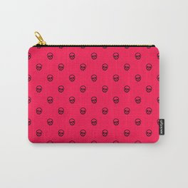 Hot Pink Skulls Carry-All Pouch