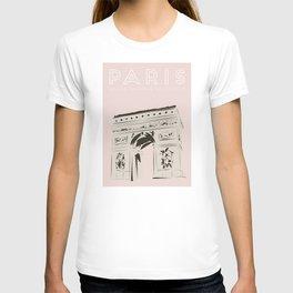 Paris Arc de Triomphe de l'Étoile Travel Poster T-shirt