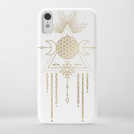 Golden Goddess Mandala iPhone Case