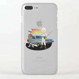 Back to the Future - Cartoon Clear iPhone Case