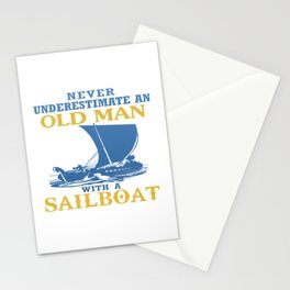 Old Man With A Sailboat Stationery Cards