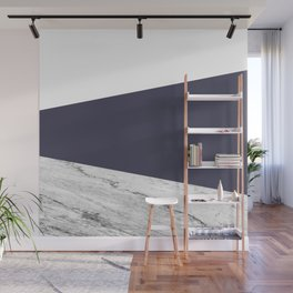 Marble Eclipse blue Geometry Wall Mural