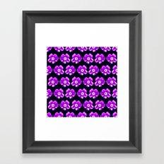 Purple  Flower Girly Pattern Framed Art Print