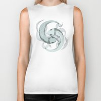 pisces Biker Tanks featuring Pisces by Vibeke Koehler