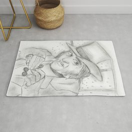 Scrooge in Black and White Rug