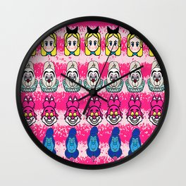 Alice and friends emojis Wall Clock