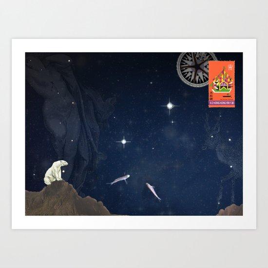 Handbook of Celestial Navigation: Plate IV Art Print