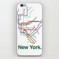 New York City Transit Map iPhone & iPod Skin