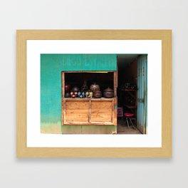 Pomaire Shop Framed Art Print