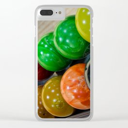 Bowling Balls Clear iPhone Case