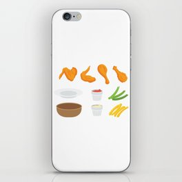 Wings and Dips iPhone Skin