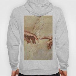 "Michelangelo ""Creation of Adam""(detail) Hoody"