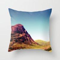 scotland Throw Pillows featuring Glencoe, Scotland. by zenitt