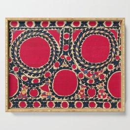 Tashkent Uzbekistan Central Asian Suzani Embroidery Print Serving Tray