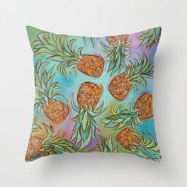 Dancing Pineapples Throw Pillow