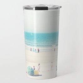 beach - happy life Travel Mug