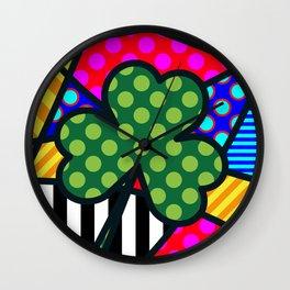 Lucky Trinity SQuare Wall Clock