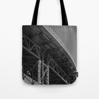 bridge Tote Bags featuring Bridge by Christophe Chiozzi
