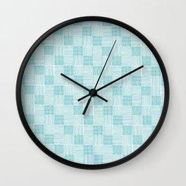 Interpretive Weaving (Seaglass) Wall Clock