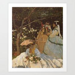 Monet- Women in the Garden, nature,Claude Monet,impressionist,post-impressionism,painting Art Print
