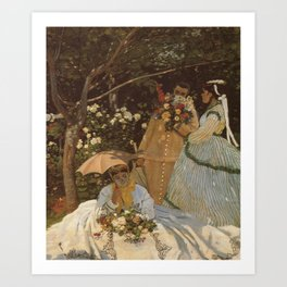 Monet- Women in the Garden, nature,Claude Monet,impressionist,post-impressionism,painting Art Print