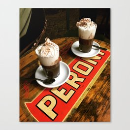 Hot Chocolate in Rome Canvas Print