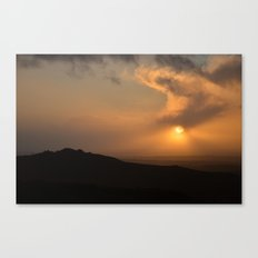Sunset on the moors Canvas Print
