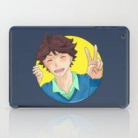 haikyuu iPad Cases featuring Oikawa Tooru - Haikyuu!! - circle peace sign by anywayimnikki