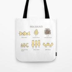 know your pasta Tote Bag