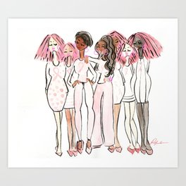 Breast Cancer Awareness Army Art Print