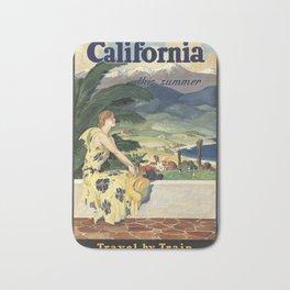 California 01 - Vintage Poster Bath Mat