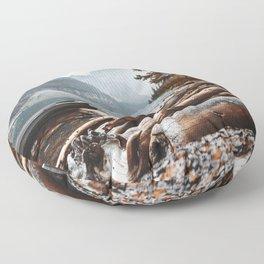 Moraine Lake at banff Floor Pillow