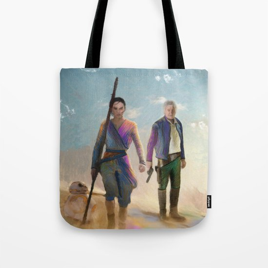 Rey and BB8 Tote Bag