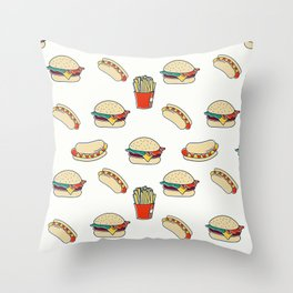 Junk Food Throw Pillow