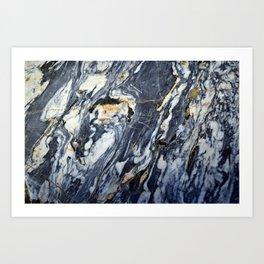 Marble Rock Art Print