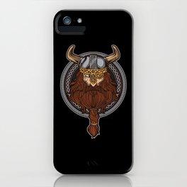 Viking Warrior   Raven Odin Valhalla Valknut Loki iPhone Case