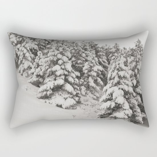 Snowy trees. Retro Rectangular Pillow