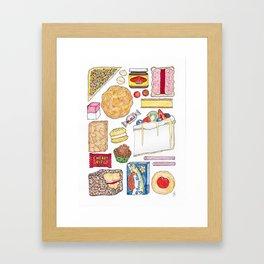 Australiana Foods Framed Art Print