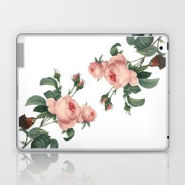 Butterflies in the Rose Garden on White Laptop & iPad Skin