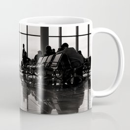 black&white- airport-travel-journey-expectation-silhouette-adventure Coffee Mug