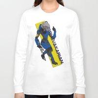 garrus Long Sleeve T-shirts featuring Garrus Vakarian by KuroHyena