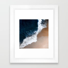 Even the biggest waves... Framed Art Print