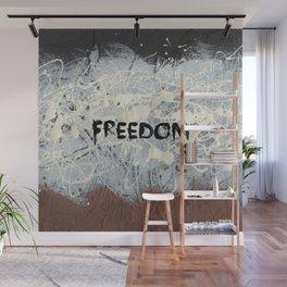 Freedom Pollock Rothko Inspired Black White Red - Modern Art - Corbin Henry Wall Mural