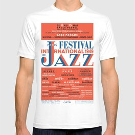 Vintage 1949 Paris International Jazz Festival Poster T-shirt